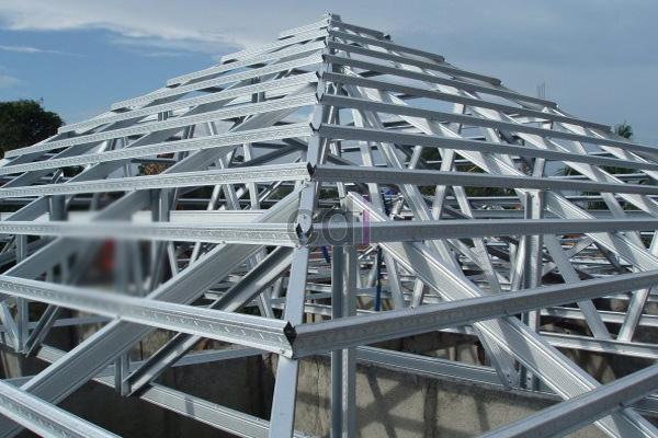 Rangka Atap Baja Ringan Sudah Terpasang
