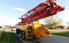 Menyewakan Concrete Pump Super Long Boom