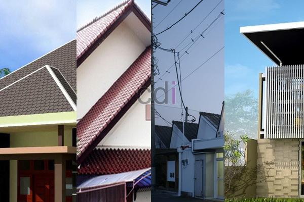 Beberapa model atap rumah